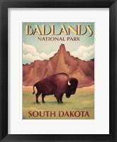 Framed Badlands South Dakota