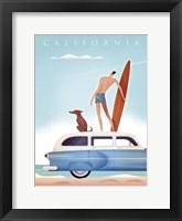 Framed California Surfing