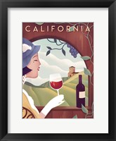 Framed California Wine