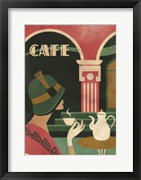 Framed Art Deco Cafe