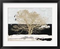 Framed Golden Tree