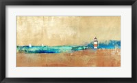 Framed Coast Line and Lighthouse