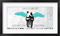 Framed Angels Like Us (Aqua)