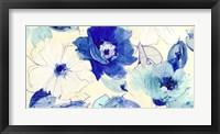 Framed Toile Fleurs