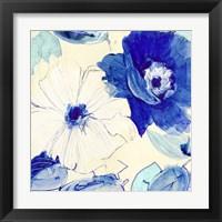 Framed Toile Fleurs I