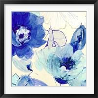 Framed Toile Fleurs II