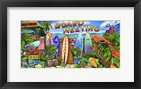 Framed Tropical Board Meeting