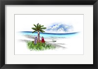 Framed Tropical Fade Palm Boards