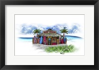Framed Tropical Fade Surf Shack