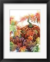 Framed Autumn Pumpkins