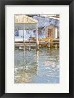 Framed Docks In The Winter