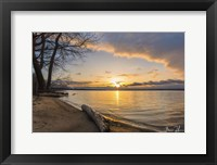 Framed Presque Isle Sunrise