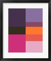 Framed Abstract Colorblock Fuschia