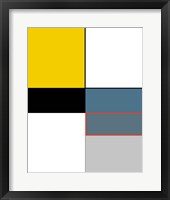 Framed Abstract Colorblock In Yellow