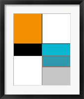 Framed Abstract Colorblock Orange