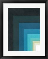 Framed Blue Corner Up Left