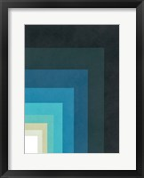Framed Blue Corner Up Right