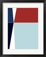 Framed Wide Open Blue 1