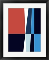 Framed Wide Open Blue 2