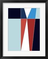 Framed Wide Open Blue 3