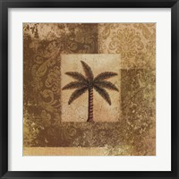 Framed Antiqued Palm