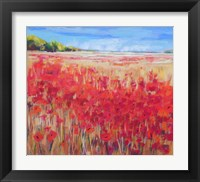 Framed Corn and Poppies IV