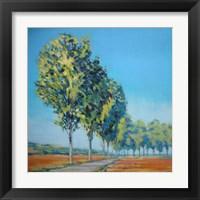Framed Normandy Poplars II