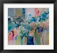 Framed Flow Blue with Gold Leaf 5