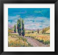 Framed Poplars Country Path