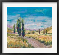Framed Poplars Country Path