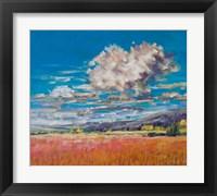 Framed Summer Clouds over Cornfield