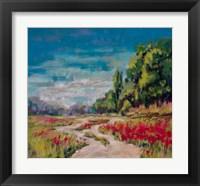 Framed Poppy Path II