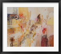 Framed Yellow and Gold Leaf 1
