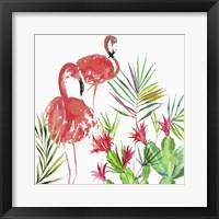 Framed Flamingo Pairing