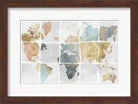 Framed Tiled Map