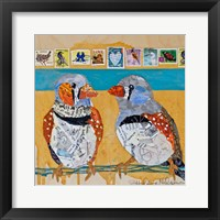 Framed Zebra Finch Lovebirds #4