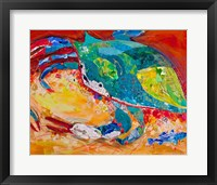 Framed Blue Crab Triptych 3