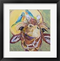 Framed Giraffe and Birds B