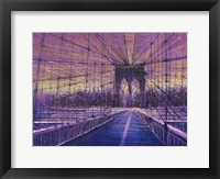 Framed Brooklyn Bridge At Last Light