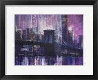 Framed Brooklyn Bridge - Late Evening