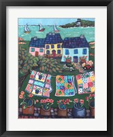 Framed Cottages and Quilts