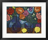Framed Patterned Roses