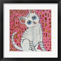 Framed Klimt Kitty