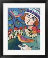 Framed Woman With Bird