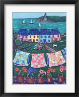 Framed More Cottages and Quilts