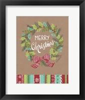 Framed Merry Christmas Wreath