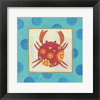 Framed Happy Floral Crab