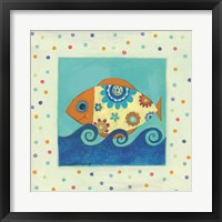 Framed Happy Floral Fish