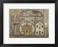 Framed Bless Our Nest Country Shelf