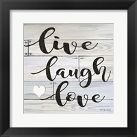 Framed Live, Laugh, Love